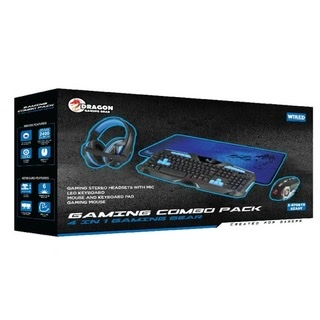 ערכת גיימינג GAMING COMBO PACK RED / BLUE